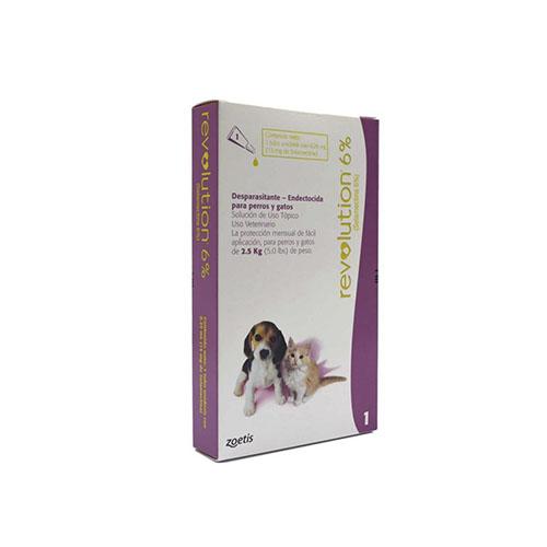 Revolution 6% Cachorros y Gatos de 2.5 kg